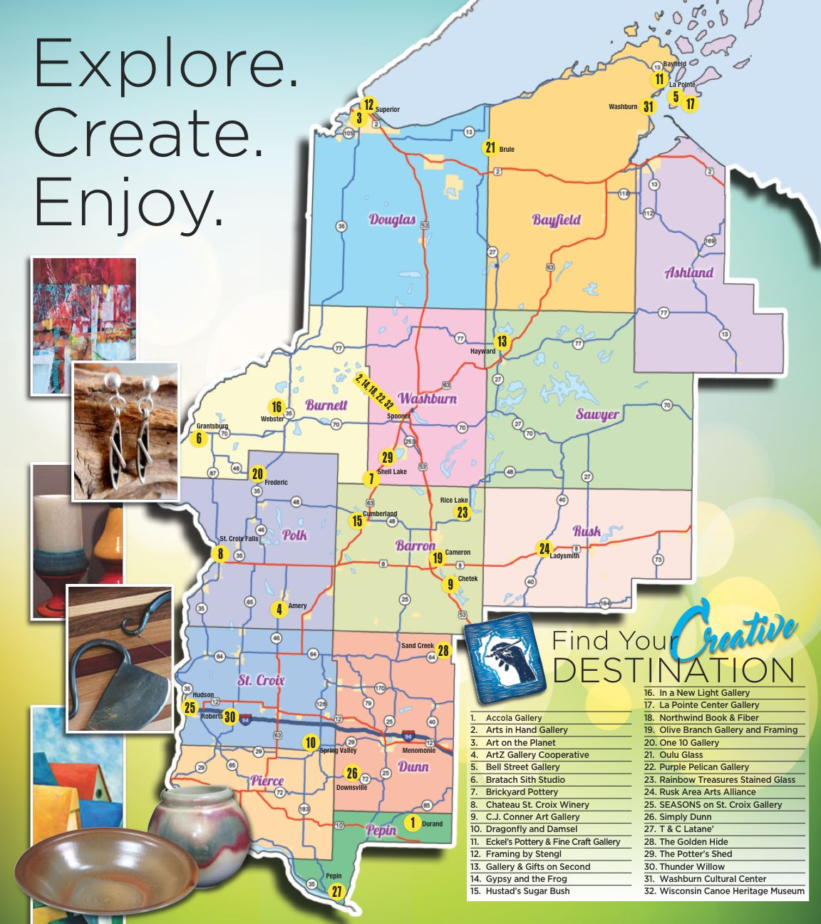 Arts in Hand 2018 Map 1
