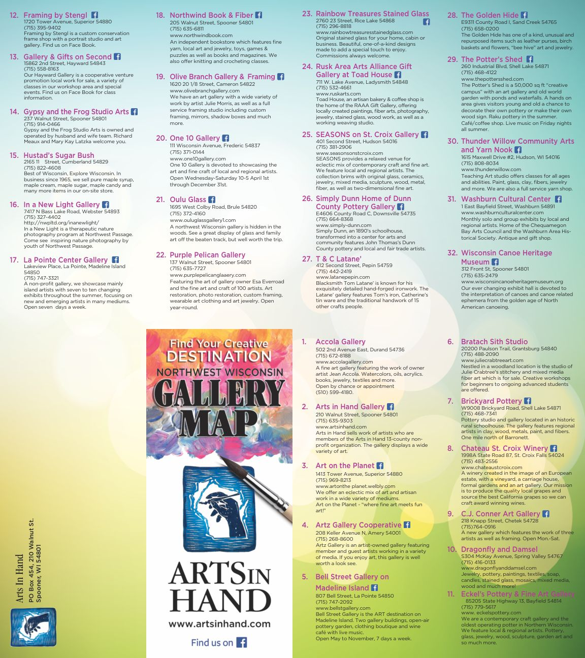Arts in Hand 2018 Map 2